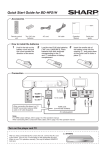 Sharp BD-HP21H Blu-ray Player User Manual