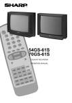 Sharp 54GS-61S CRT Television User Manual