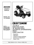 Sears 917.25559 Lawn Mower User Manual