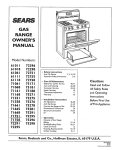 Sears 71661 Range User Manual