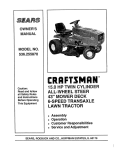 Sears 536.25587 Lawn Mower User Manual