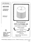 Sears 437.83163 Saw User Manual