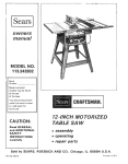 Sears 113242502 Saw User Manual
