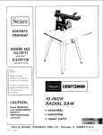 Sears 113.19771 Saw User Manual