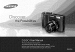Samsung S850 Camcorder User Manual