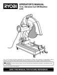 Ryobi C358 Saw User Manual