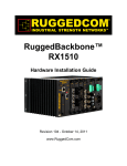 RuggedCom RX1000 Network Router User Manual