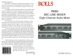 Rolls RM82 DJ Equipment User Manual
