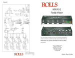 Rolls mx410 Music Mixer User Manual