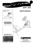 ProForm 831.28317 Exercise Bike User Manual