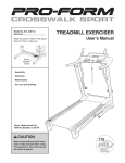 ProForm 831.24813.0 Treadmill User Manual