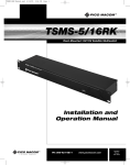 Pico Macom TSMS-5/16RK Switch User Manual