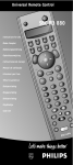 Philips SBC RU 880 Universal Remote User Manual