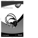 Philips HC8390 Headphones User Manual
