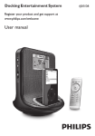 Philips AJ301DB/79 MP3 Docking Station User Manual
