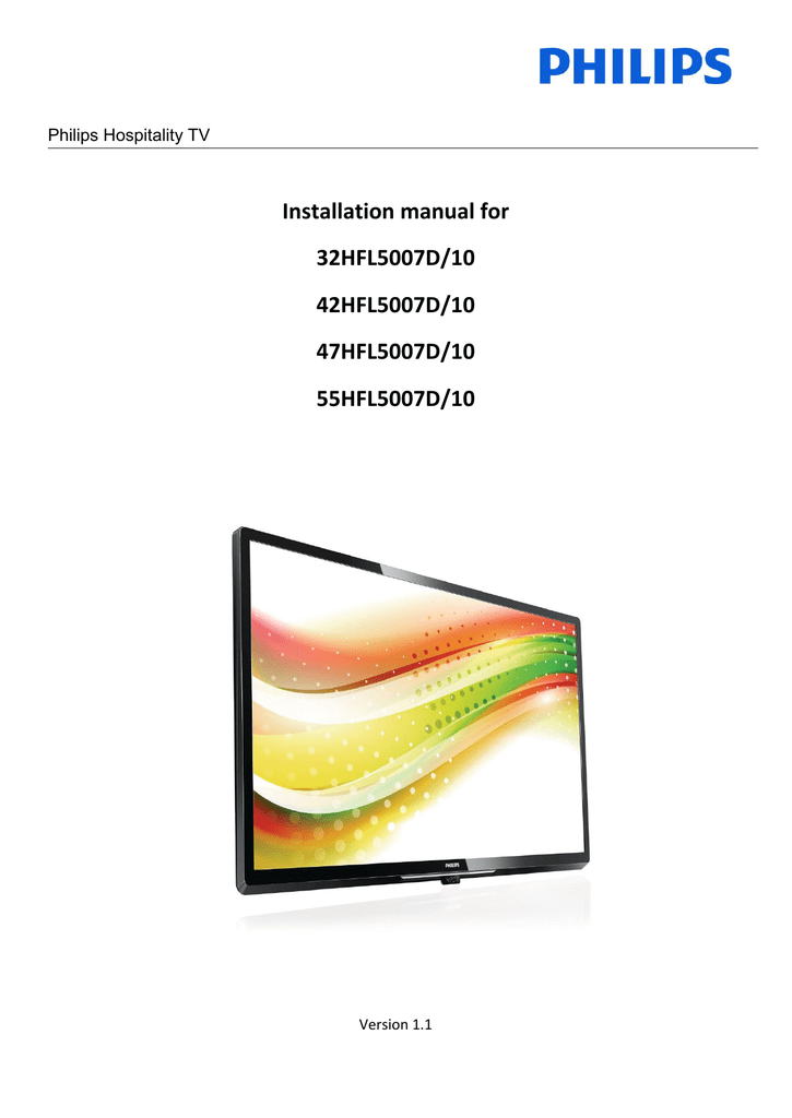 Philips 32HFL5007D/10 Flat Panel Television User Manual