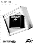 Peavey 158 Musical Instrument Amplifier User Manual