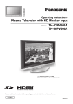 Panasonic TH-50PV500A Flat Panel Television User Manual
