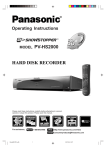 Panasonic PV-HS2000 DVR User Manual
