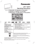 Panasonic PT-61LCZ70 Projection Television User Manual