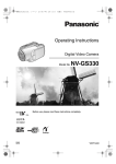 Panasonic NV GS 330 Camcorder User Manual