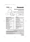 Panasonic NN-H604 Microwave Oven User Manual