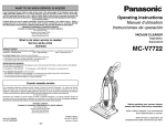 Panasonic MC-V7722 Vacuum Cleaner User Manual