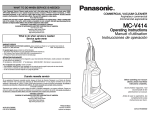 Panasonic MC-V414 Vacuum Cleaner User Manual