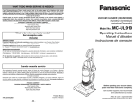 Panasonic MC-UL910 Vacuum Cleaner User Manual