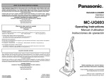 Panasonic MC-UG693 Vacuum Cleaner User Manual