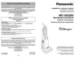 Panasonic MC-GG283 Vacuum Cleaner User Manual