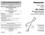 Panasonic MC-CG983 Vacuum Cleaner User Manual