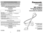 Panasonic MC-CG973 Vacuum Cleaner User Manual
