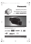 Panasonic HDC-SX5P Camcorder User Manual