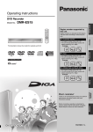 Panasonic DMR-ES15 DVD Player User Manual