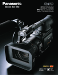 Panasonic AG-HVX200 Camcorder User Manual
