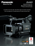 Panasonic AG-HVX200A Camcorder User Manual