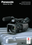 Panasonic AG-DVX102B Camcorder User Manual