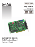 Omega Engineering OME-A8111 Computer Hardware User Manual