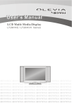 Olevia LT26HVE Series Flat Panel Television User Manual