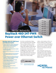 Nortel Networks 460-24T-PWR Switch User Manual