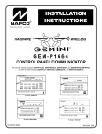 Napco Security Technologies GEM-P1664 Home Security System User Manual