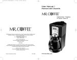 Mr. Coffee SPR-030308 Coffeemaker User Manual
