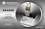 Motorola sd4560 Answering Machine User Manual