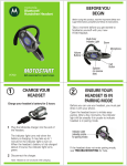 Motorola H700 Bluetooth Headset User Manual