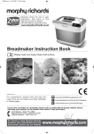 Morphy Richards BM48324 Bread Maker User Manual