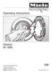 Miele W 1966 Washer User Manual
