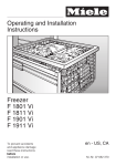 Miele F1801VI Freezer User Manual