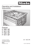 Miele F1801SF Freezer User Manual