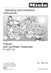 Miele F1471VI Freezer User Manual
